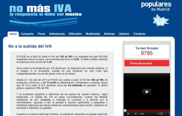 Las redes sociales impiden que el PP borre el rastro de su campaña 'No más IVA' | Partido Popular, una visión crítica | Scoop.it