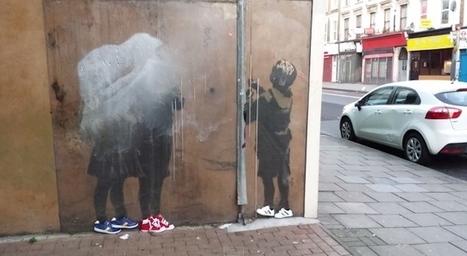 Fila chausse les street-arts muraux célèbres de Londres avec des moitiés de chaussures | streetmarketing | Scoop.it