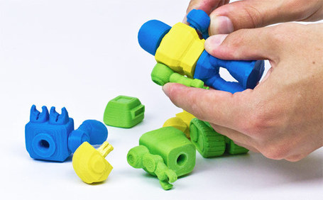 Cubify's 3D-printed toy robots take cues from Lego, sport interchangeable parts | The Robot Times | Scoop.it