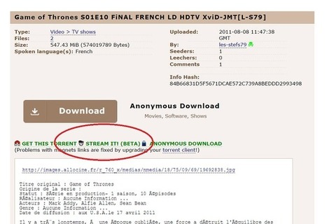 Pirate Bay devient un site de streaming | E-Music ! | Scoop.it