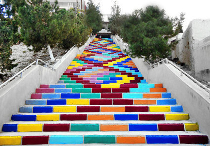 Volunteers Create a Colorful Staircase in Syria | What's new | Scoop.it