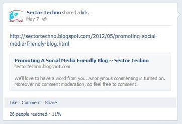 Facebook adds reach in individual post | Sector Techno | Scoop.it