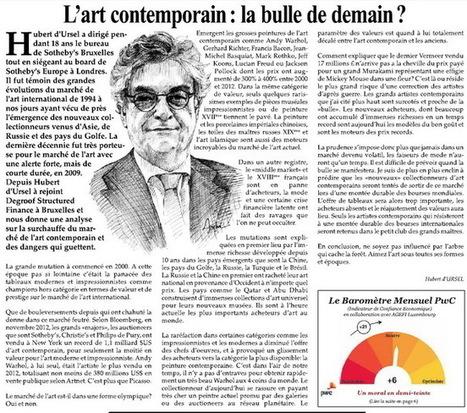 L'art contemporain : la bulle de demain ? par Hubert d'Ursel | | Le BONHEUR comme indice d'épanouissement social et économique. | Scoop.it