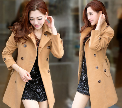 Cheap OL temperament slim thick two-sided woolen trench coat in women outcoat from women clothing on sightface.com | Cheap women Clothing Online at Sightface | Scoop.it