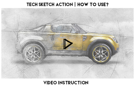 Tech Sketch Photoshop Action (Photo Effects) - Free Download - Kabulo   Freakinthecage Webdesign Lesetips   Scoop.it