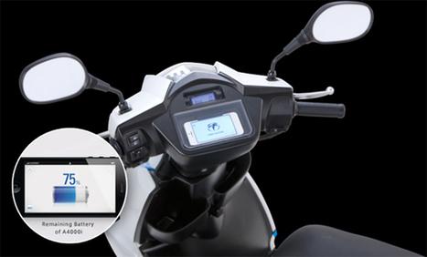 Un scooter électrique Japonais utilise votre iPhone comme tableau de bord | Paris 2RM | Scoop.it