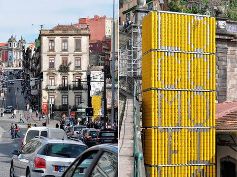 Latas rotativas transformam torre num cartaz gigante | Criatividade, inovação, marketing | Scoop.it