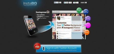 InstaBG: Twitter background with Instagram | Time to Learn | Scoop.it
