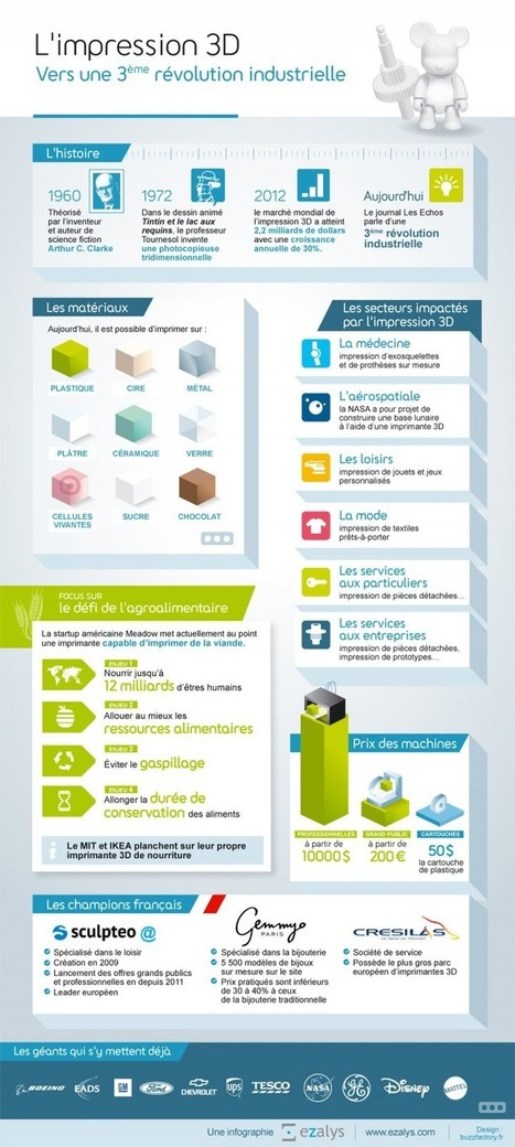 Infographie Impression 3D : 3ème révolution industrielle | Les Imprimantes 3D .fr | impression 3D | Scoop.it