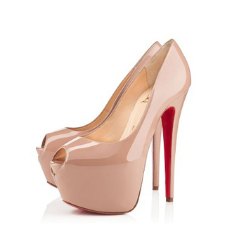 Highness Kid Nude Patent Leather Platforms Shoes [20131019] - $269.00 : bagbagsoutlets | bags outlet | Scoop.it