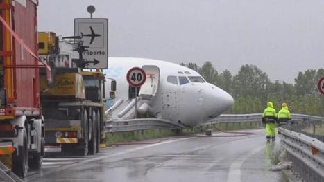 Un Boeing 737 de DHL sort de piste à Bergame | Aviation & Airliners | Scoop.it