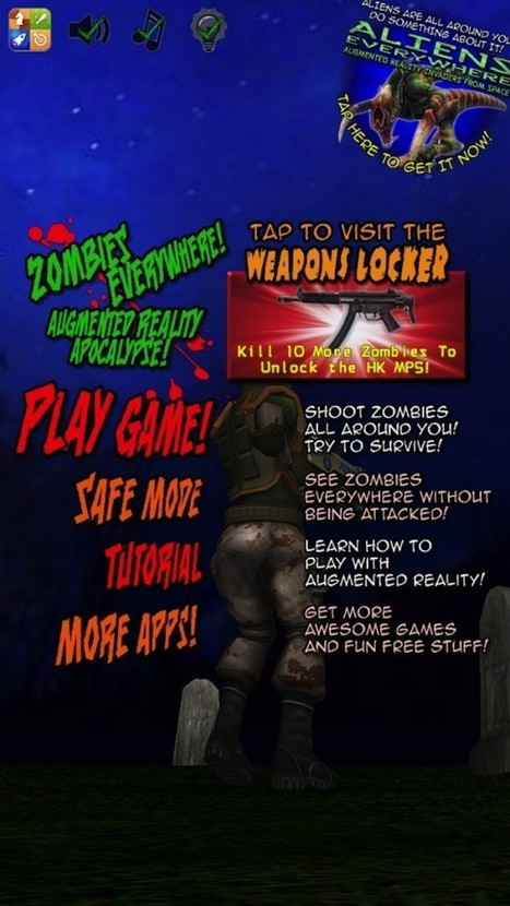 Quirky App Of The Day: Experience Augmented Reality In Zombies Everywhere | iPads in the classroom | Scoop.it