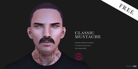 Classic Mustache Group Gift by Raw House | Teleport Hub - Second Life Freebies | Second Life Freebies | Scoop.it