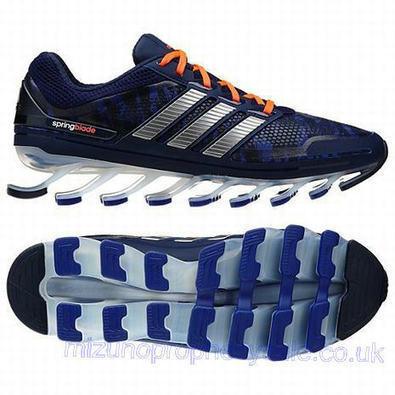 Mens Adidas Springblade Running Shoes Navy Sliver Orange.jpg (465x465 pixels)   fashionshoes   Scoop.it