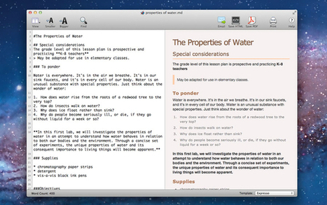 Apps We Actually Use: Markdown Pro for editing text and markdown documents | Mac & iPhone | Scoop.it