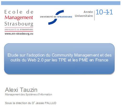 Etude sur l'adoption du Community Management et des outils du Web 2.0 par les TPE et les PME en France - Alexi Tauzin   Time to Learn   Scoop.it