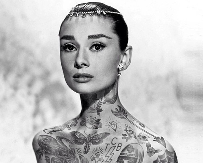 Tattoo Icons: What would Audrey Hepburn, Princess Di and Barack Obama look like if they were heavily tattooed? | The Independent | À la une | Scoop.it