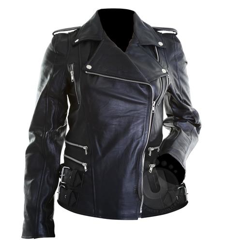 Brando Ladies Black Cow Hide Genuine Leather Biker Jacket | Designer Leather Jackets | Scoop.it