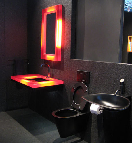 Elegant Black Bathroom Designs | 2012 Interior Design, Living Room Ideas, Home Design | Scoop.it
