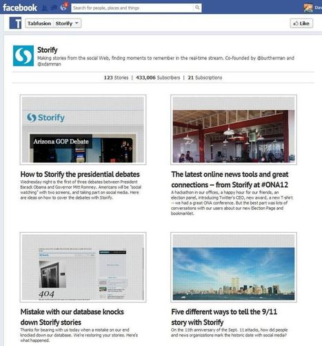 Tabfusion Releases Storify Tab App For Facebook - AllFacebook | Content Curation Tools For Brands | Scoop.it