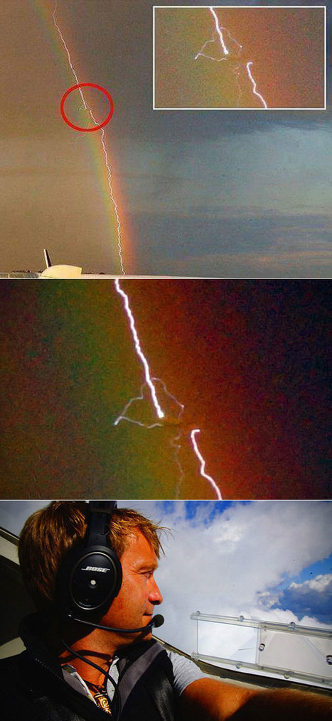 Once-in-a-Lifetime Image of Plane Being Struck by Lightning While Inside a Rainbow and 18 More Interesting Pictures - TechEBlog | Weird Phenomena | Scoop.it