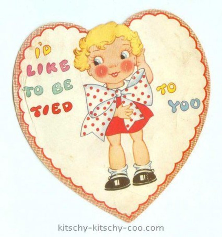 "Antique ""I'd Like To Be Tied To You"" Valentine 
