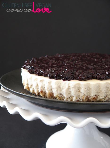 Gluten-Free Vegan Blueberry Cheesecake Tart | Parisfood. it! | Scoop.it