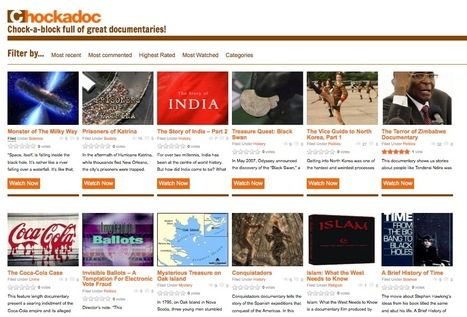 Curated Collections of Video Documentaries: Chockadoc.com | cool stuff from research | Scoop.it