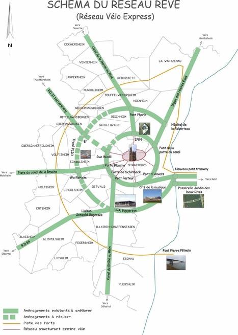 Bientôt une autoroute périphérique pour les vélos à Strasbourg | URBANmedias | Scoop.it