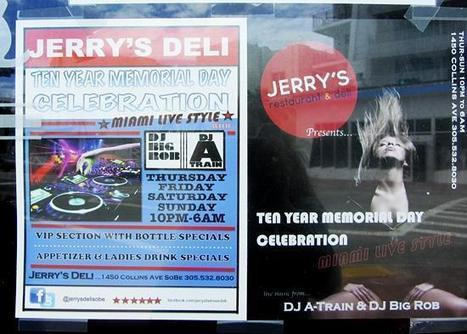 Jerry's Famous Deli To Turn Into Pop-Up Nightclub For Urban Beach Weekend | Midnight Rambler | Scoop.it