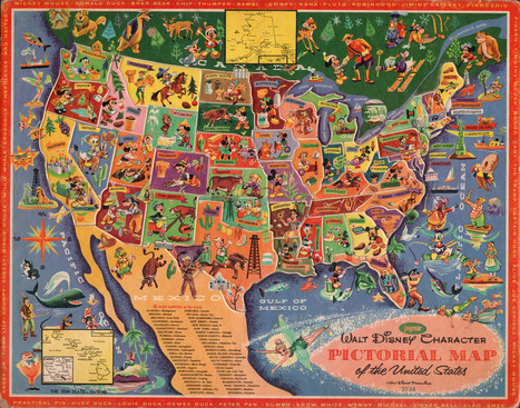 Disney character map of the US. | AP Human Geography Petrides | Scoop.it