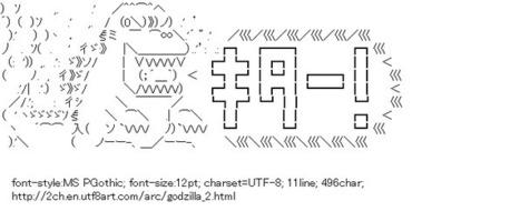 Godzilla Kitaaa | ASCII Art | Scoop.it