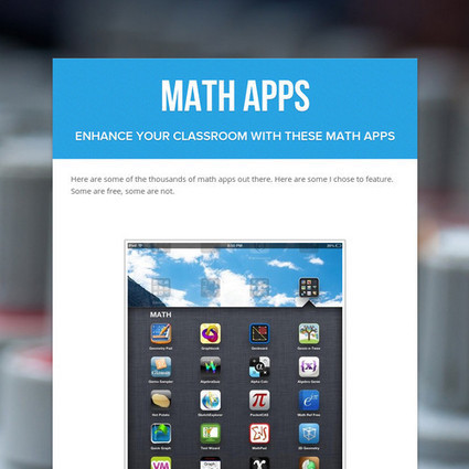 Math Apps by C Beyerle | Edupads | Scoop.it