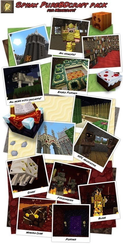 Sphax PureBDCraft Resource Pack 1.7.4, 1.7.2, 1.6.4 | Minecraft Resource Packs Archives | Minecraft Resource Packs 1.7.10, 1.7.2 | Scoop.it