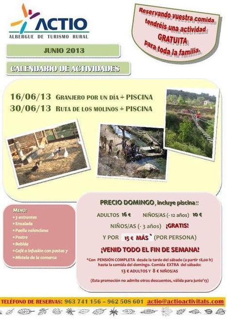 Actividad gratuita + piscina!! Sólo reservando tu comida familiar - Junio 2013 | Turismo de Naturaleza, en familia | Scoop.it