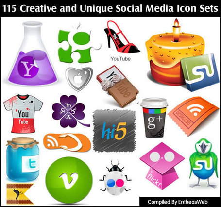 Creative and Unique Social Media Icon Sets | Reading Pool | Scoop.it
