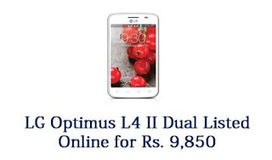 LG Optimus L4 II Dual Listed Online For Pre-order at Rs. 9,850 | Latest Smartphones of 2013 | Scoop.it