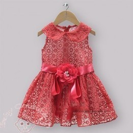 Elegant Red Lace Dress with a Charming Waistband | Birthday Boutique | Scoop.it