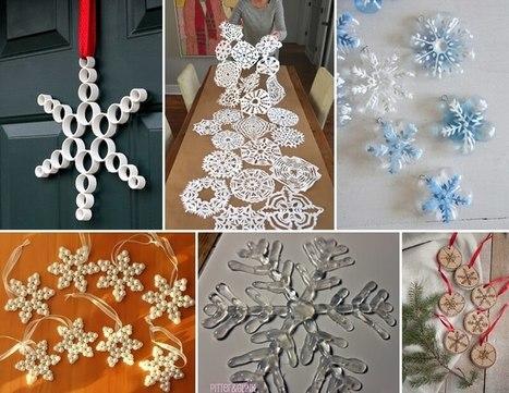 20 Creative and Easy Ways to Craft Snowflakes | Amazing interior design | Scoop.it