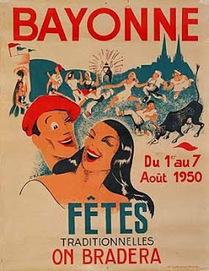 Pays Basque 1900: Les affiches des Fêtes de Bayonne | SandyPims | Scoop.it