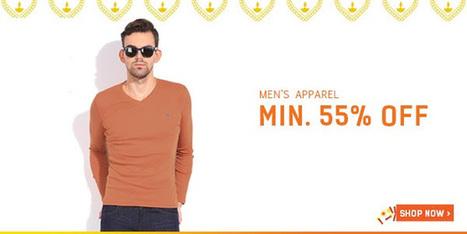 Minimum 55% Off On Men's Apparel | DribblingMan | Scoop.it