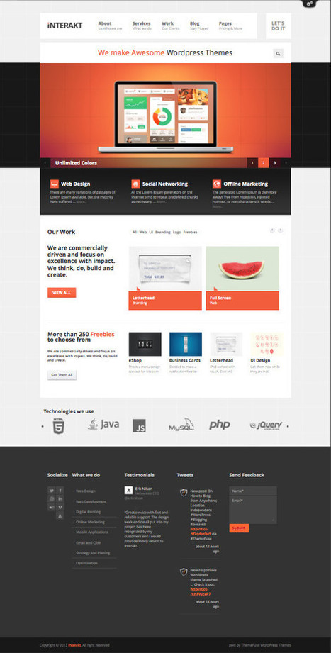 Interakt WordPress Theme for Creative Studios | cloudhost | Scoop.it