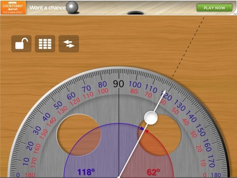 Virtual Tool: iPad Protractor - Class Tech Tips | Better teaching, more learning | Scoop.it