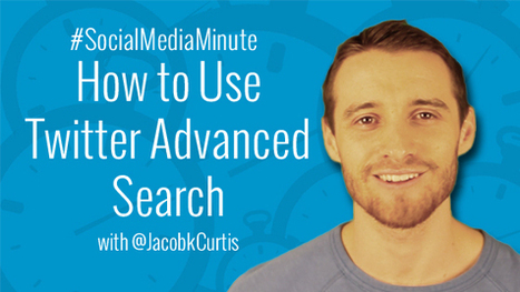 How to Use Twitter Advanced Search - | Social Media Tutorials | Scoop.it