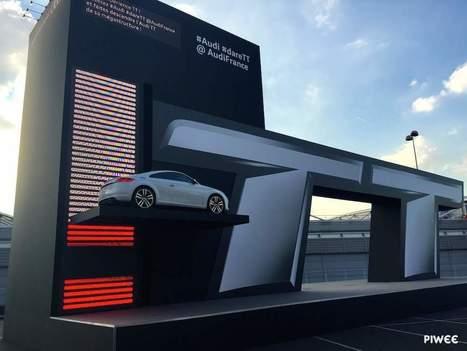 Audi crée une mégastructure qui fait descendre la TT avec des tweets | streetmarketing | Scoop.it