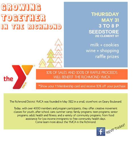 Shopping Fundraiser | YMCA Benefit, Seedstore, Richmond, 5/31 | San Francisco | Around Town | Scoop.it