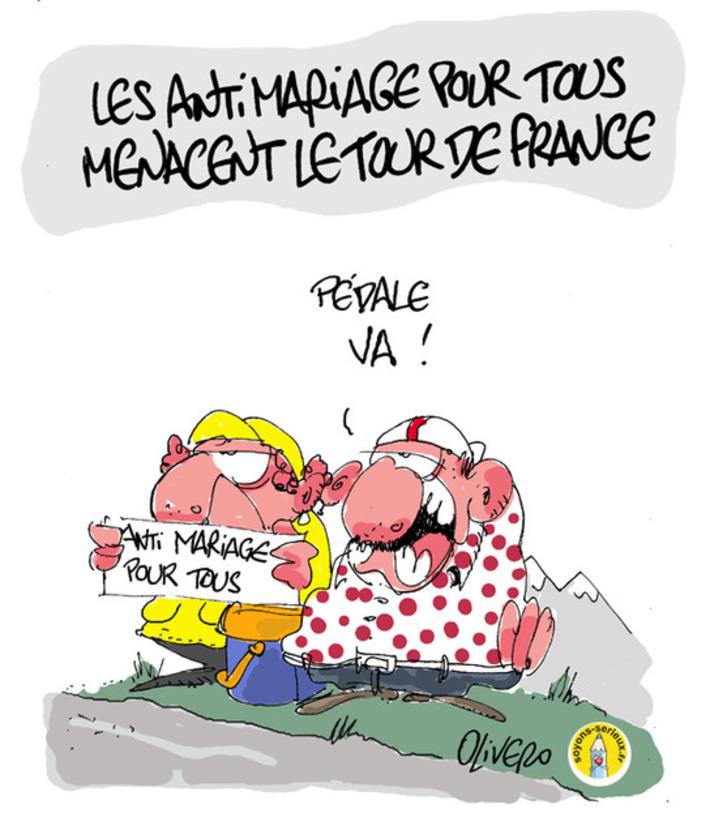 Les anti mariage pour tous menacent le Tour de France   Baie d'humour   Scoop.it