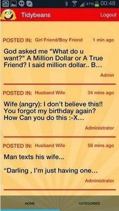 TidyBeans SMS, Greetings, Jokes And Quotes: TidyBeans SMS, Greetings, Jokes And Quotes App | AmebaEntertainment | Scoop.it