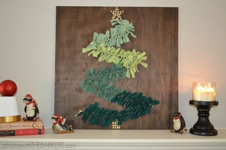DIY Christmas Tree Wall Art - At Home With The Barkers   Christmas Craft   Scoop.it