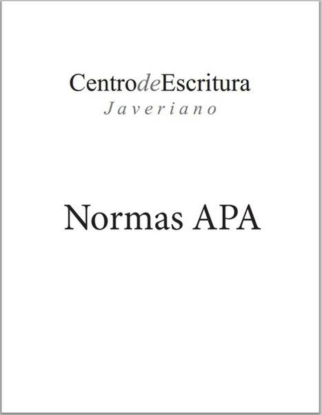 Normas APA para los escritos académicos | SEMINARIO TIC | Scoop.it